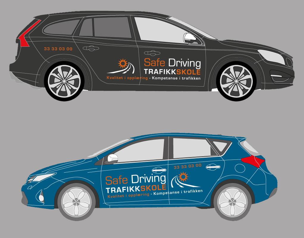 Biler i trafikkopplæring